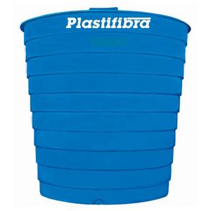 Caixa d'Água Fibra de Vidro 15000L Azul Plastifibra