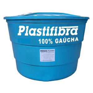 Caixa d'Água Fibra de Vidro 1500L Azul Plastifibra