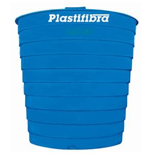 Caixa d'Água Fibra de Vidro 7500L Azul Plastifibra