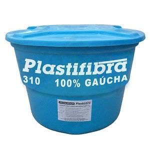 Caixa D'Agua Fibra de Vidro Redonda Capacidade 310L 0,71x1,00m Plastifibra