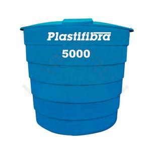 Caixa D'Água Fibra de Vidro Redonda 5000L 2,05x2,17m Plastifibra