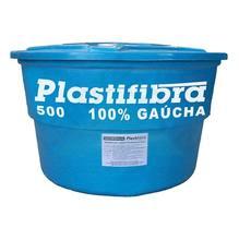 Caixa D'Agua Fibra de Vidro Redonda Capacidade 500L 0,76x1,20m Plastifibra