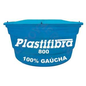Caixa D'Água Fibra de Vidro Redonda Capacidade 800L 0,74x1,49m Plastifibra