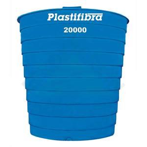 Caixa D'Água Fibra de Vidro Redonda Capacidade 20.000L 3,58X3,10m Plastifibra