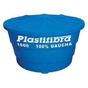 Caixa D'Água Polietileno Redonda Capacidade 1000L 0,90x1,54m Plastifibra