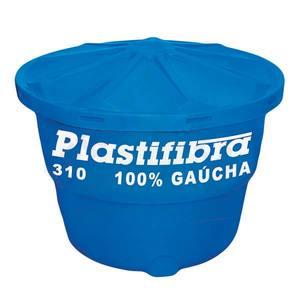 Caixa D'Agua Polietileno Redonda Capacidade 310L 0,71x1,00m Plastifibra