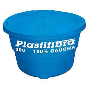 Caixa D'Agua Polietileno Redonda Capacidade 500L 0,76x1,20m Plastifibra