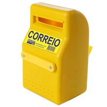 Caixa de Correio para Grade Com Fechadura Polietileno Amarelo Altimex