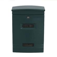 Caixa de Correio para Grade Fechadura Aço Azul 100x260x370mm Standers