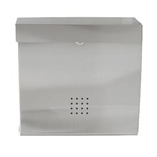 Caixa de Correio para Grade Fechadura Aço Prata 110x350x350mm Standers