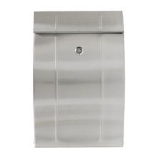Caixa de Correio para Grade Fechadura Aço Prata 120x250x380mm Standers