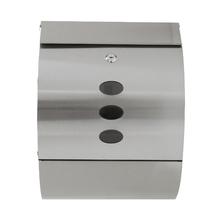 Caixa de Correio para Grade Fechadura Aço Prata 320x130x420mm Standers