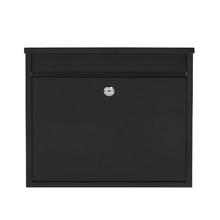 Caixa de Correio para Grade Fechadura Aço Preto 120x310x360mm Standers