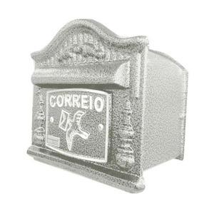 Caixa de Correio para Grade/Muro Branco Decor 16x17x12,5cm Prates & Barbosa