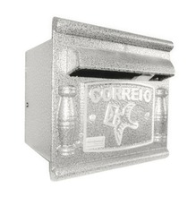 Caixa de Correio para Grade/Muro Branco Depop 17x18,5x17,5cm Prates & Barbosa