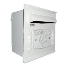 Caixa de Correio para Grade/Muro Branco Repop 22x20x18cm Prates & Barbosa