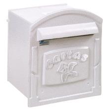 Caixa de Correio para Grade/Muro Branco RepopII 23x19,5x18cm Prates & Barbosa