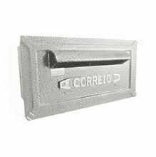 Caixa de Correio para Grade/Muro Branco Turquesa 14x27x18cm Prates & Barbosa