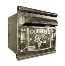 Caixa de Correio para Grade/Muro Dourado Depop 17x18,5x17,5cm Prates & Barbosa