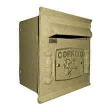 Caixa de Correio para Grade/Muro Dourado Repop 22x20x18cm Prates & Barbosa