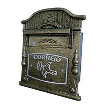 Caixa de Correio para Grade/Muro Dourado Vitoria 24x19,5x15cm Prates & Barbosa