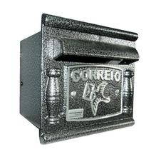 Caixa de Correio para Grade/Muro Prata Depop 17x18,5x17,5cm Prates & Barbosa