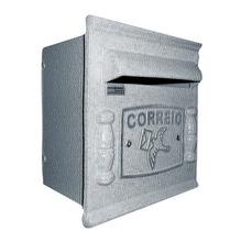 Caixa de Correio para Grade/Muro Prata Repop 22x20x18cm Prates & Barbosa