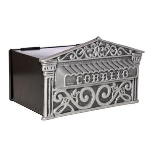 Caixa de Correio para Muro Alumínio Prata Decorarte