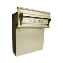 Caixa de Correio para Muro Dourado Safira 40x35,5x17cm Prates & Barbosa
