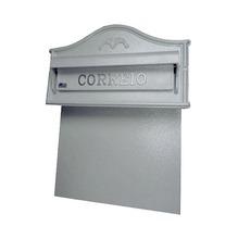 Caixa de Correio para Muro Prata Tais 40x35,5x17cm Prates & Barbosa
