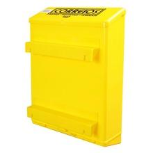 Caixa de Correio Plástico Amarela Master Para Grade 36 cmx26 cm Altimex