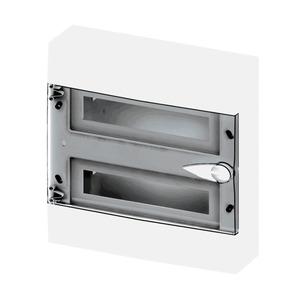 Caixa de Distribuição de Sobrepor 12 Disjuntores DIN Transparente Eletromar