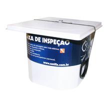 Caixa de Inspeção com Tampa Plástico ABS Diâmetro de Entrada 2 Furos Sanifix