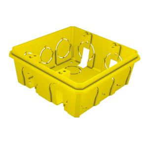 Caixa de Luz 4x4 Quadrada Amarela Romazi