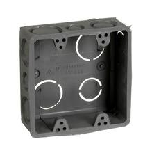 Caixa de Luz 4x4 Quadrada Cinza Tuboline