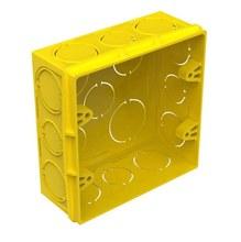 Caixa de Luz Quadrada PVC Amarela 4x4 11,2x11,2x4,75cm Tigre