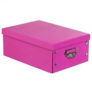 Caixa Organizadora Papelão Rosa 13,5x34cm Dobrável Sertrading