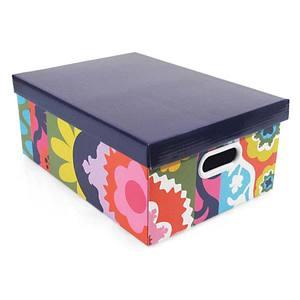 Caixa Organizadora Papelão Roxo 14x36cm Suzani Boxgraphia