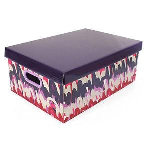 Caixa Organizadora Papelão Roxo 20x42cm Bounce Boxgraphia