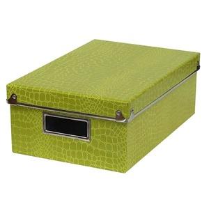 Caixa Organizadora Papelão Verde 30x20cm Croco Boxgraphia