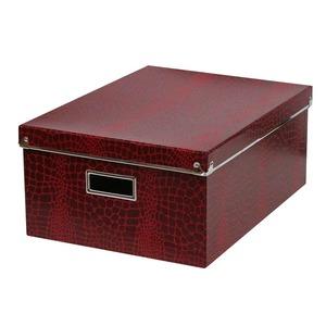 Caixa Organizadora Papelão Vermelho 17x30cm Croco Boxgraphia