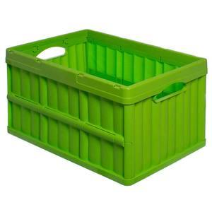 Caixa Organizadora de Plástico Retangular Verde 30x62x40cm Dobrável Arthi