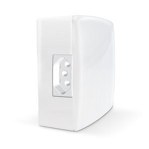 Caixa de Sobrepor com Disjuntor Unipolar 10A+Tomada 2P+10A Branca Alumbra