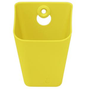 Caixa Multiuso Plástico Amarela 8x11x9cm Spaceo