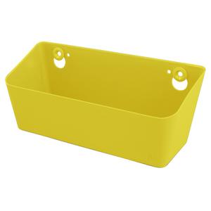 Caixa Multiuso Plástico Corrugado Amarela 10x26x11cm Spaceo