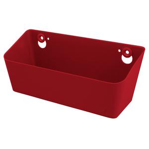 Caixa Multiuso Plástico Vermelha 10x26x11cm Spaceo