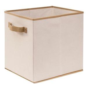 Caixa Organizadora em Tecido 24x30x30cm Bege