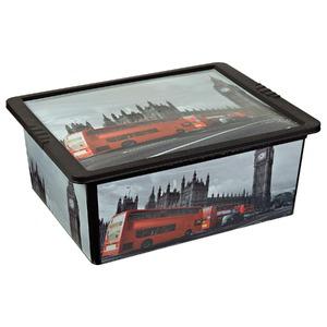Caixa Organizador Plástico 17L Vermelho com Tampa 16,2x42x32,5 São Bernado