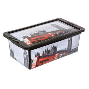 Caixa Organizador Plástico 5,5L Vermelho com Tampa 11,7x34,3x19 São Bernado