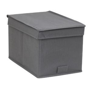 Caixa Organizador TNT Cinza 17,5x17,5x28,5cm Spaceo